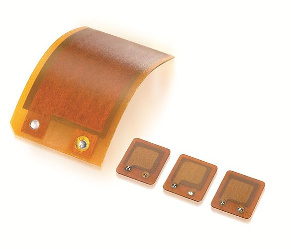 Different sizes of DuraAct flexible patch transducers (Image: PI Ceramic)