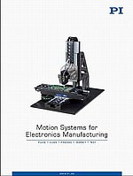 Motion Systems for Electronics Manufacturing Brochure