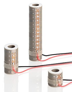 Figure 7b. Ceramic-insulated piezo actuators are also available as tubular stacks.