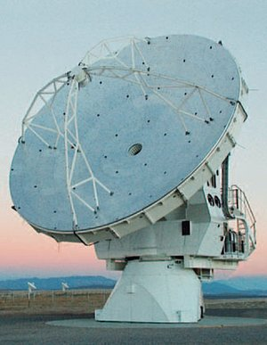 The ALMA VertexRSI test antenna was equipped with a PI Hexapod 6-axis alignment system. (Image: Vertex Antennentechnik GmbH – A General Dynamics Company)