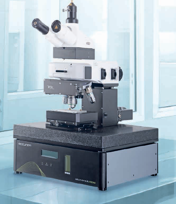 Very often individual classical microscopic methods are no longer sufficient in terms of optical resolution or information content. The combination of different microscopic methods yields more extensive and more accurate measurement data.  This combination of methods makes high demands on the individual components of the microscopes, and the sample positioning mechanisms.