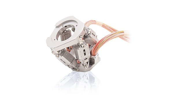 A non-magnetic, UHV compatible piezo motor driven mini hexapod. Many processes in the semiconductor industry require nanometer precision motion in multiple degrees of freedom. PI's NEXLINE® piezo motor technology won the Semi Technology Innovation Showcase Award in 2005.