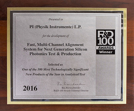 The FMPA system won an award at the R&D 100 Conference, Nov. 2-4, 2016, as one of the 100 most technologically significant products of the year in Analytical/Test.