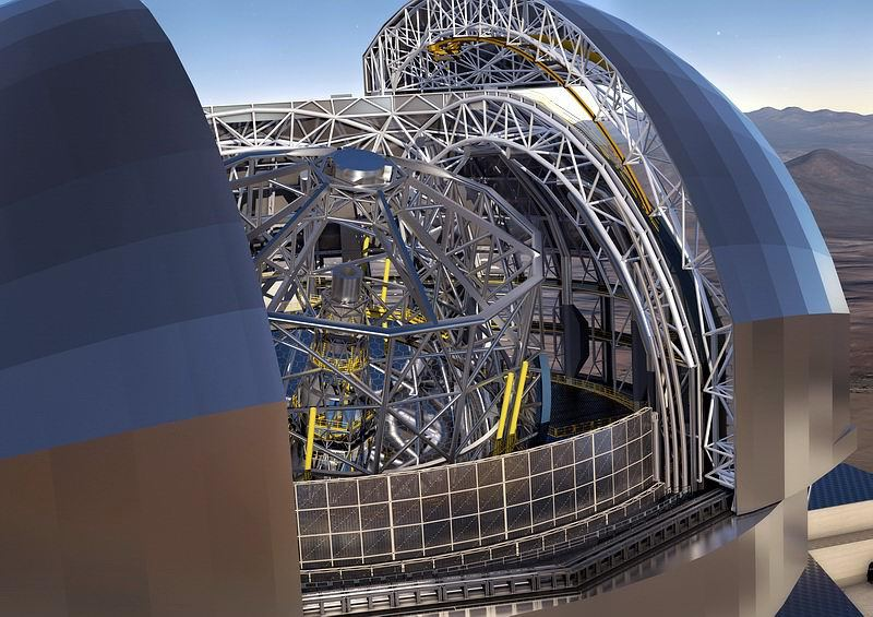 PI (Physik Instrumente) and the Fraunhofer Institute for Applied Optics and Precision Engineering (IOF), are working on a new actuator concept for the European Extremely Large Telescope (E-ELT). (Image: ESO/L. Calçada/ACe Consortium)