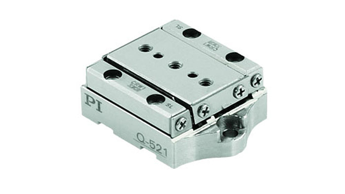 The Q-521 miniature piezo positioner is an even smaller version of the Q-522 series, with dimensions from 21×30×10mm. It comes in open and closed-loop versions with two linear encoder options for 1 and 4 namometer resolution, respectively. Vacuum compatible versions are also offered for pressures as low as 10-9 hP. Applications include optics and photonics, metrology, microscopy, micromanipulation, biotechnology and automation.