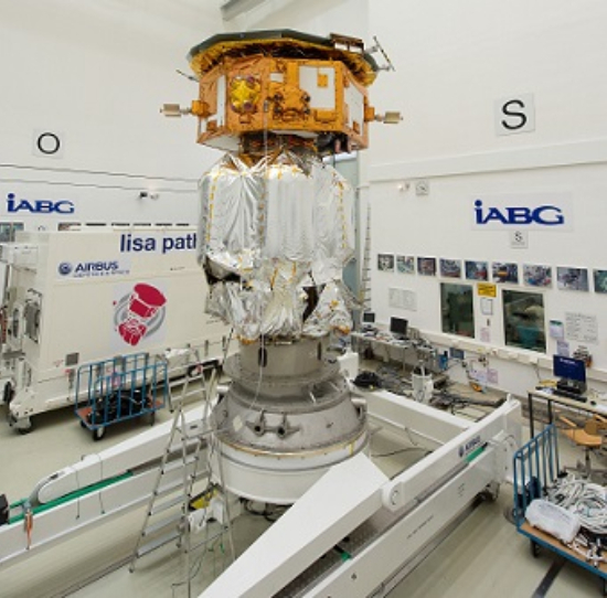 LISA Pathfinder launch composite at IABG s space test centre2 (Image: ESA)
