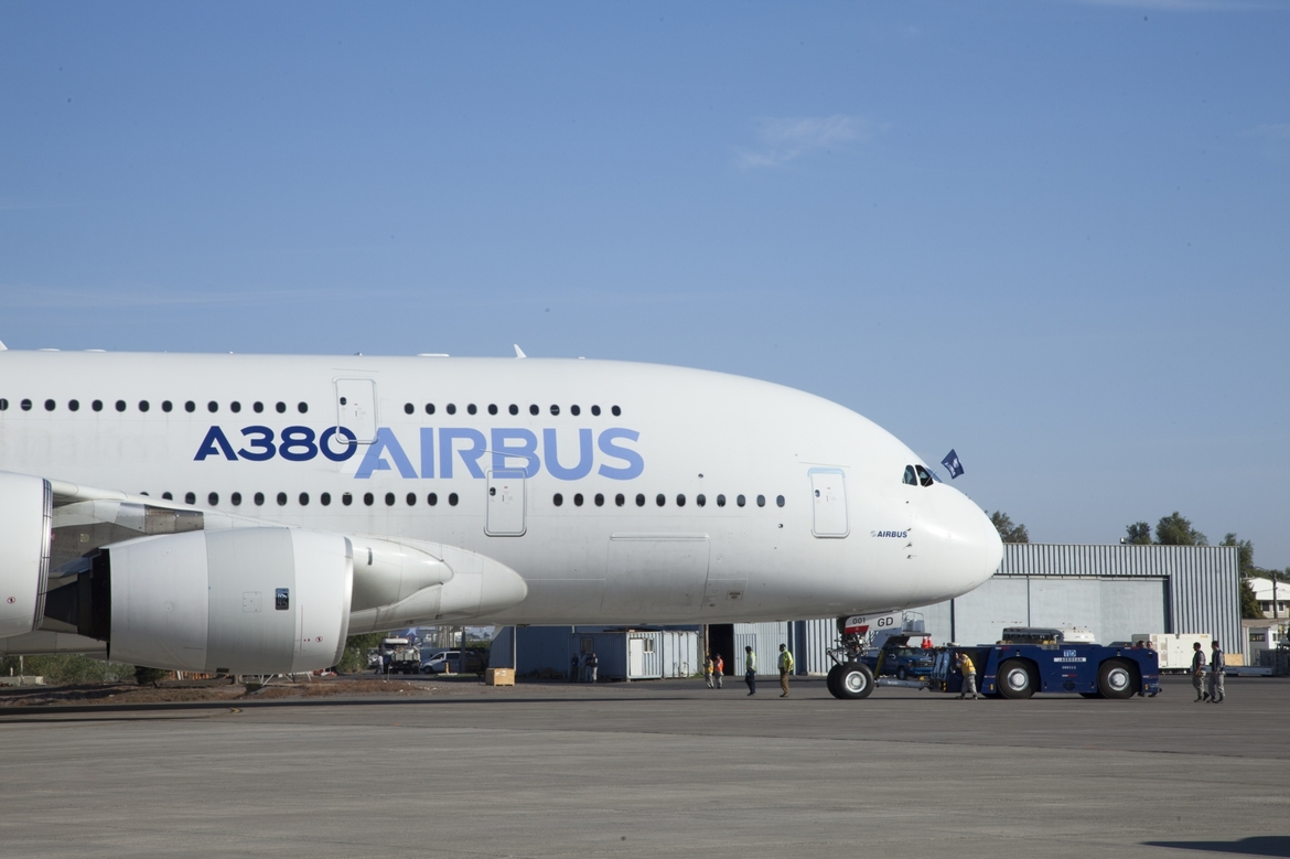 The A380 Airbus employs a motorized mechanism to open and closed its large doors (Image: Airbus)