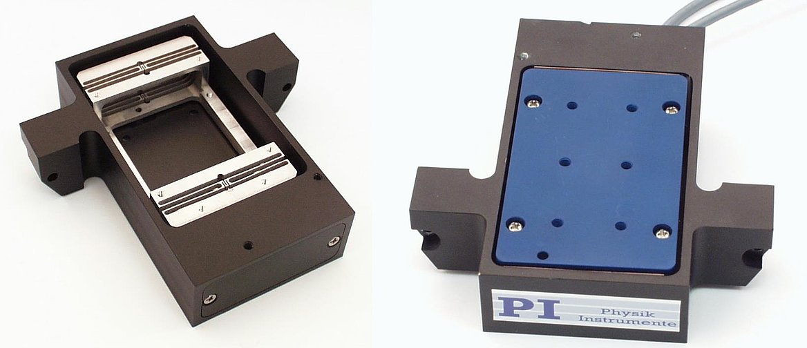 A flexure guided, compact linear scanner with voice coil direct drive, 4mm motion range. (Image: PI)