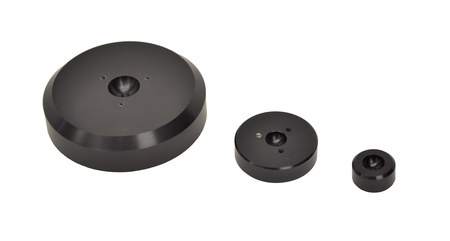 Flat pad air bearings, such as the PIglide FPC series, are available in different sizes for different load ratings. (Image: PI)