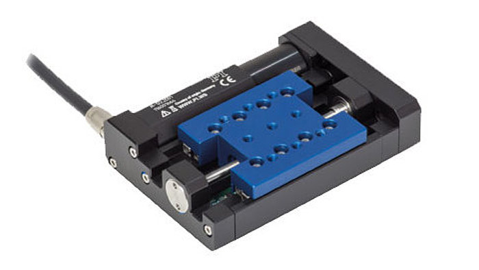 The M-122 is a compact, high precision linear stage with integrated linear encoder providing 100 nanometers resolution. It is a bit larger than the M-112 lead screw-driven stage (with motor/gearhead combination), but provides higher speed and precision.