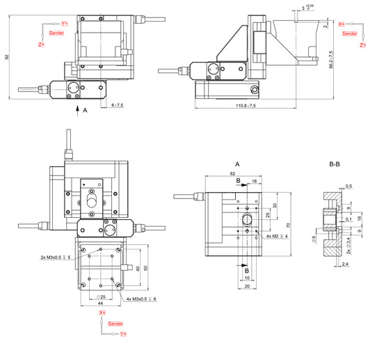 F-131.3SD1, Dimensions in mm. Note that the decimal places are separated by a comma in the drawings.