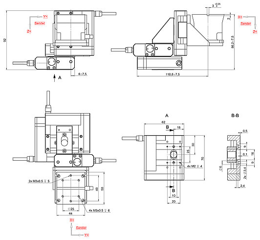 F-131.3SD1, Dimensions in mm. Note that a comma is used in the drawings instead of a decimal point.