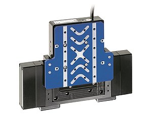 Modified V-528 linear stage with gravity compensation for vertical use