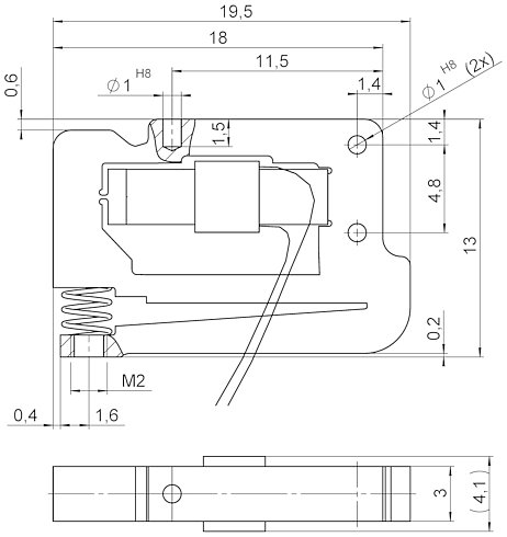 P-604, dimensions in mm