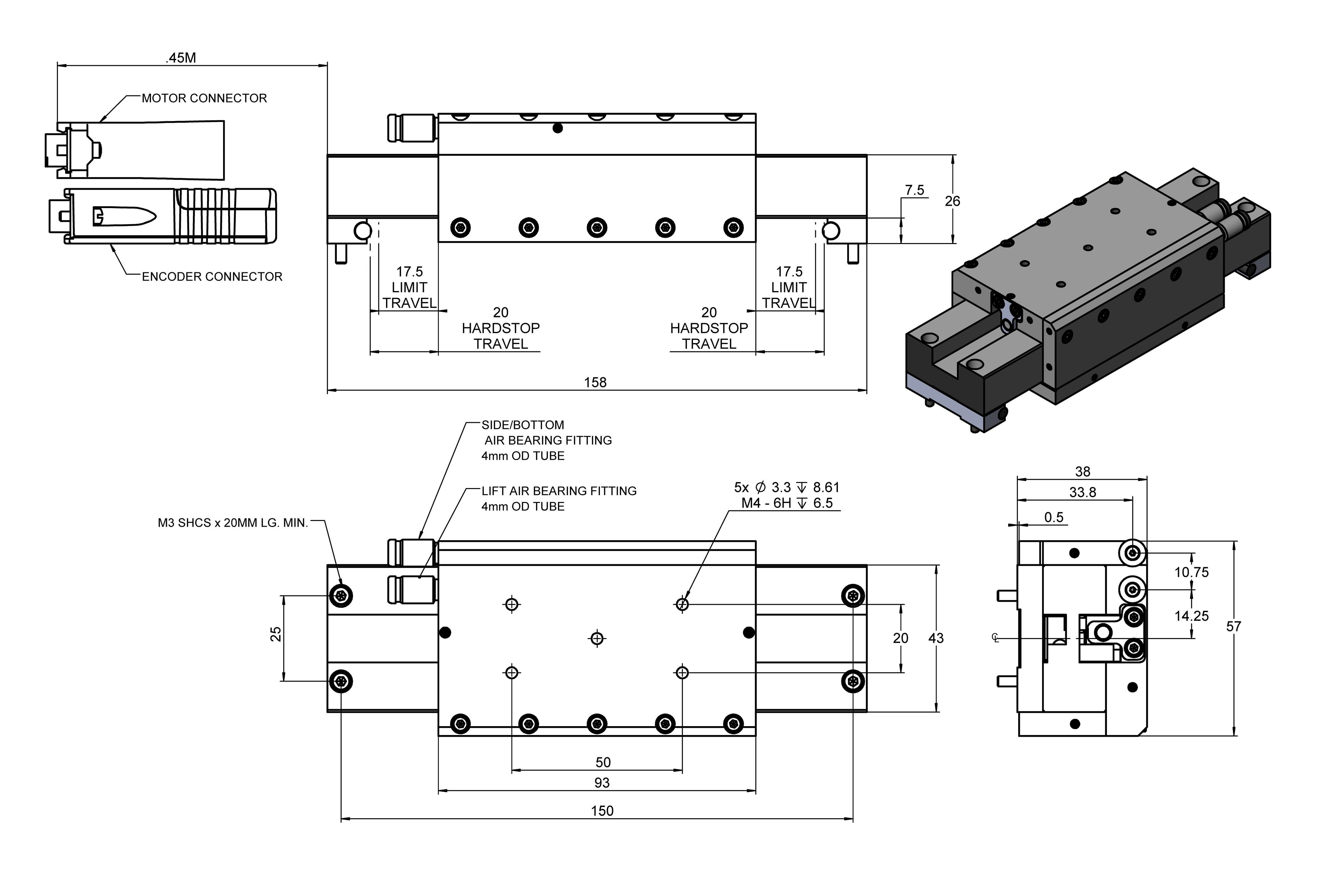 A 141 Piglide Mb Miniature Linear Stage With Air Bearings Best Combination Lock Pic16f84 Circuit Diagram Super Pi Drawing