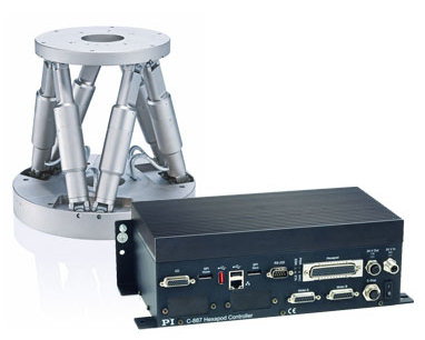 H-850 hexapod shown with C-877.52 hexapod controller