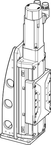 The L-412.039054B high-load linear stage was mounted onto an L-500.AV1 adapter bracket (positioner on adapter).