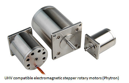 UHV compatible electromagnetic stepper rotary motors (Phytron)