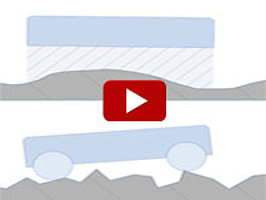 Animation explains how air bearings compare to mechanical bearings