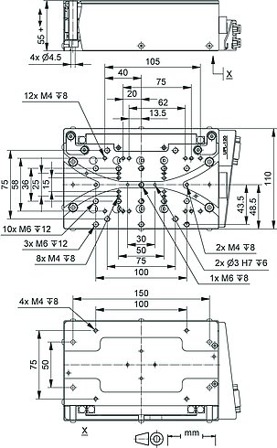 UPL-120, dimensions in mm