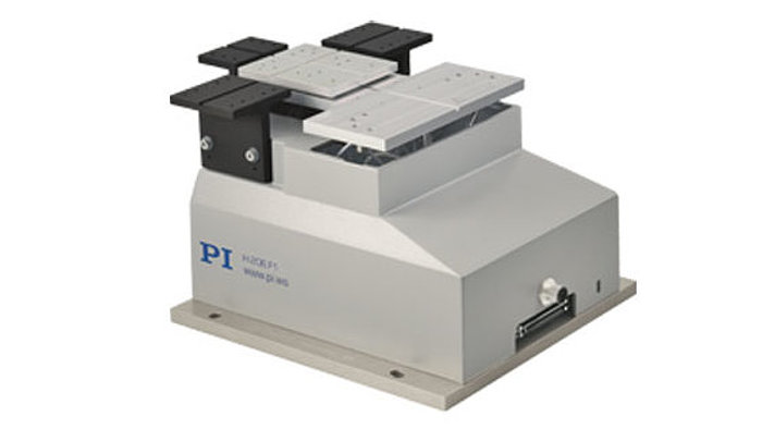 The H-206 is a unique, low-inertia 6-axis automated alignment system for fibers and fiber-optical components. Its hexapod-type parallel-kinematics motion engine and a dedicated controller running a variety of user-selectable alignment routines make it superior to conventional 6-axis aligners.