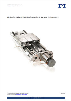 "Download the whitepaper ""Motion and Positioning in Vacuum Environments"""
