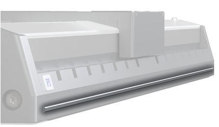 Machined reference edges facilitate the alignment of the linear stages on the machine base