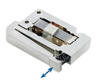 P-604 Low-Cost, Flexure-Guided, Motion-Amplified Piezo Actuator