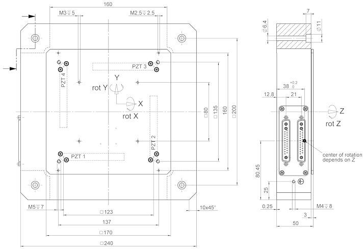 P-587, dimensions in mm