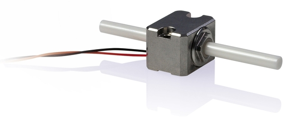 Figure 3. Mini-rod piezo inertia positioning drives are suitable for compact drive solutions, to adjust apertures for adjusting the electron beam or for tracking with other components. Piezo motion is also suitable during specimen preparation. (Image: PI)