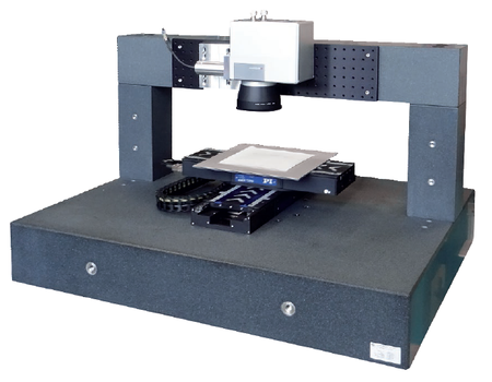 Laser micromachining gantry based on ACS motion controller, PI linear motor stages and Scanlab galvo scanner.