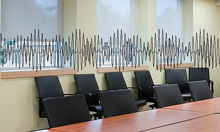 Many uses in domestic and office environments: Turning tables into microphones and window panes into speakers, and/or noise cancellation devices (Photo: PI)