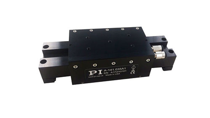 The PIglide MB air bearing stage is linear servo motor driven with fully preloaded air bearings and an integral optical linear encoder. This stage offers ultra-precision in a miniature package. The combination of non-contact components results in a frictionless motion platform that offers the highest performance, quality, and life. This stage is ideally suited for many high precision applications, such as metrology, photonics alignment, optics positioning, and scanning. The non-contact design also makes these stages ideal for cleanroom applications. There are no moving electrical cables to manage. The air bearing offers a locking design for the ultimate in position stability.