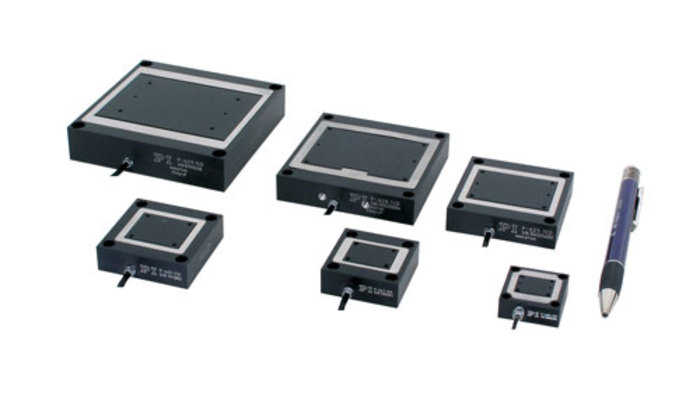 These miniature positioning stages are piezo-actuator driven and flexure guided for ultra-smooth, fast and high-precision motion and positioning applications. High precision capacitance positioning sensors provide feedback to a closed-loop controller. PIHera flexure stages are available in X, XY, and Z configurations and can be assembled to form compact XYZ positioning systems.