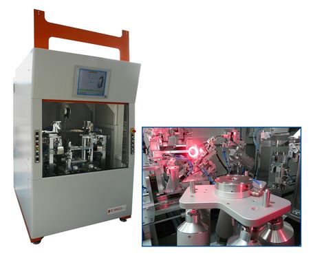 The Dimensional Measuring machine DM401 series employs a Hexapod H-820 for positioning headlamps