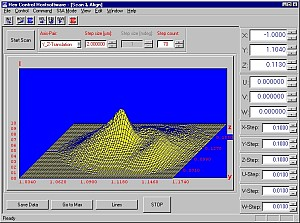 HexControl Software showing Optical Device Scan