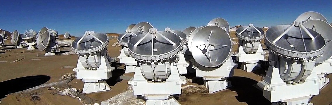 The ALMA telescope array consists of a total of 66 antennae. (Image: ALMA)