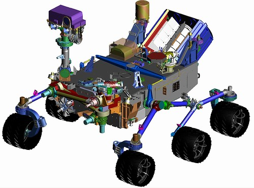Figure 5. The CheMin spectrometer for chemical and mineralogical analyses in the Mars rover: equipped with piezo actuators from PI Ceramic (Image: NASA)