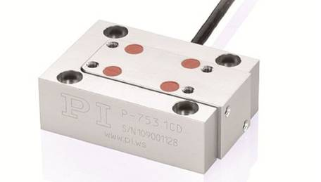 P-753 LISA (Linear Stage Actuator) direct-drive piezo flexure guided actuator provides sub-millisecond response and nanometer range guiding accuracy.