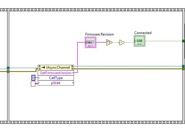 PI ACS Motion Controller LabView Programming Block Diagram