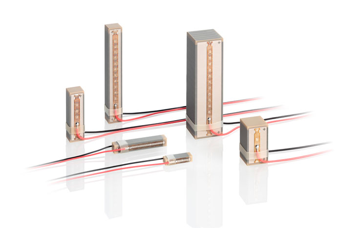 Variety of ceramic encapsulated PICMA® piezo actuators. (Image: PI)