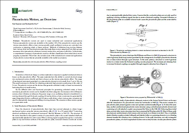 Read the full article: Piezoelectric Motors, an Overview