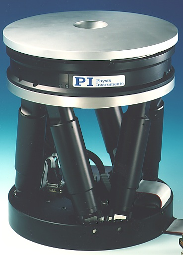 Reaching for the stars, history and future: A piezo-driven active mirror platform from the 90's for astronomical telescopes on top of a 6 DOF hexapod. It improves the effective optical resolution of earthbound telescopes by taking the twinkle out of the stars. Many of the world's most powerful telescopes use PI technology to improve their performance. PI recently won a contract to provide thousands of special hybrid piezo / servo motor actuators for the largest optical telescope in the world.