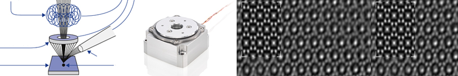 Electron Microscopy: Nonmagnetic Drives and Stages for Vacuum