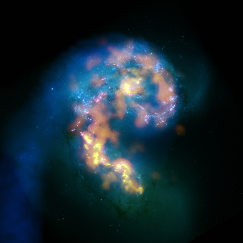 First astronomical test image released to the public from ALMA: detailed views of star-formation in the Antennae Galaxies. (Image: https://www.nrao.edu/)