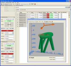 Hexapod control and 3D visualisation of connected hexapod geometry with included PIMikroMove™ Software.