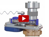 Animation of a new type of miniature piezo ratchet motor drive