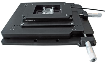 The PInano® Z stage can be combined with the M-545 high-stability, long-travel manual/motorized microscope stage (25 x 25 mm).
