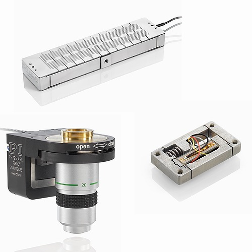 Examples of different piezo flexure actuators and flexure positioning systems.