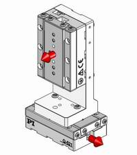 XY combinations mount directly without adapters. A Z-bracket is available for vertical applications.